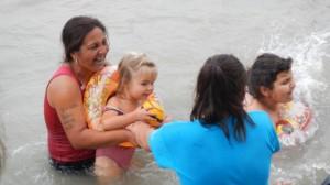 fürdés a Balcsiban 2014