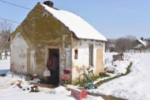 kicsi ház hóban