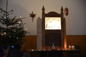 árnybáb-paraván karácsonyfával